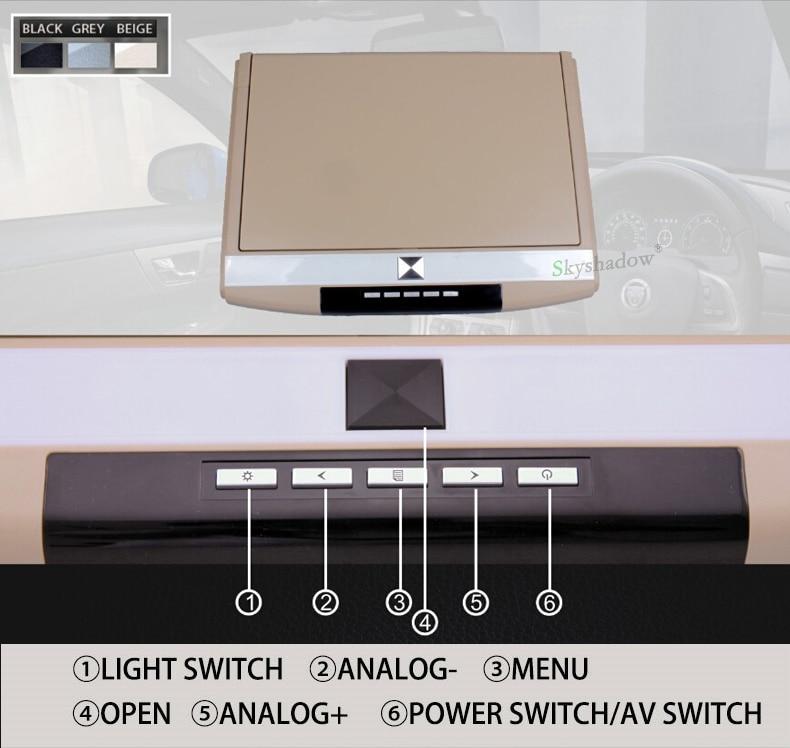 "Discount Stylish 17.3"" / 15.6"" Color TFT LCD Display 12V~24V Roof Mount Car Monitor Flip Down Car Monitor Player HD 1080P HDMI USB SD FM 2"