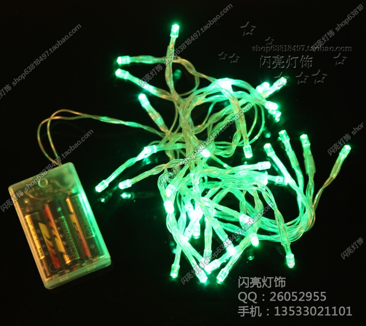Led lights flasher battery lighting string flicker garden lights mantianxing string light holiday decoration ...
