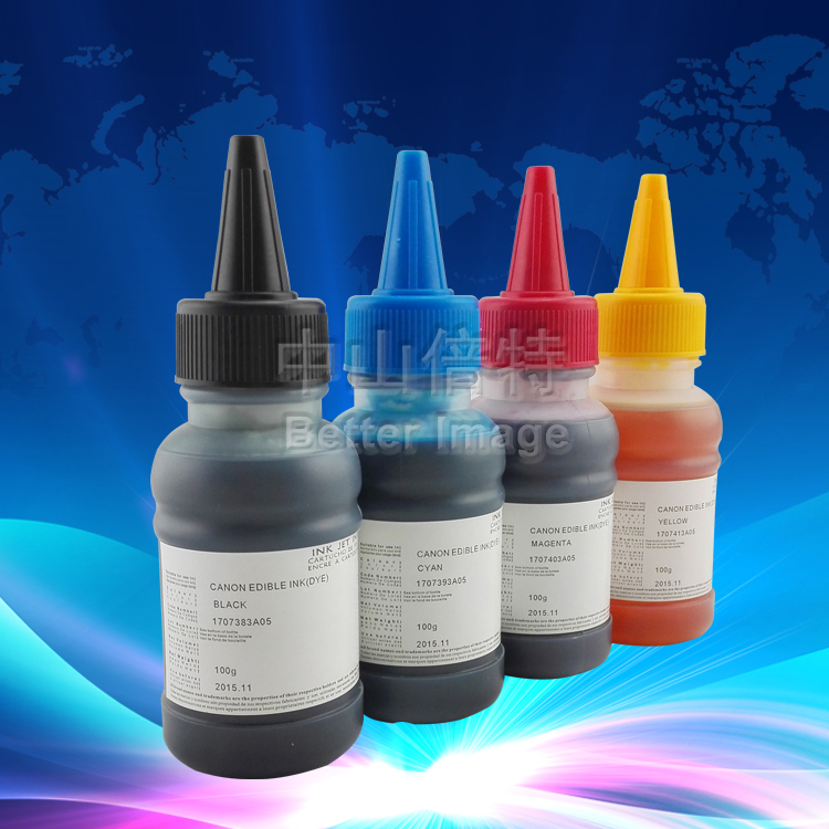 XIMO On promotion! 4*100ml bottled edible ink,high quality food ink, use for cake ,free postage westal wallet male genuine leather men s wallets for credit card holder clutch male bags coin purse men genuine leather 9041
