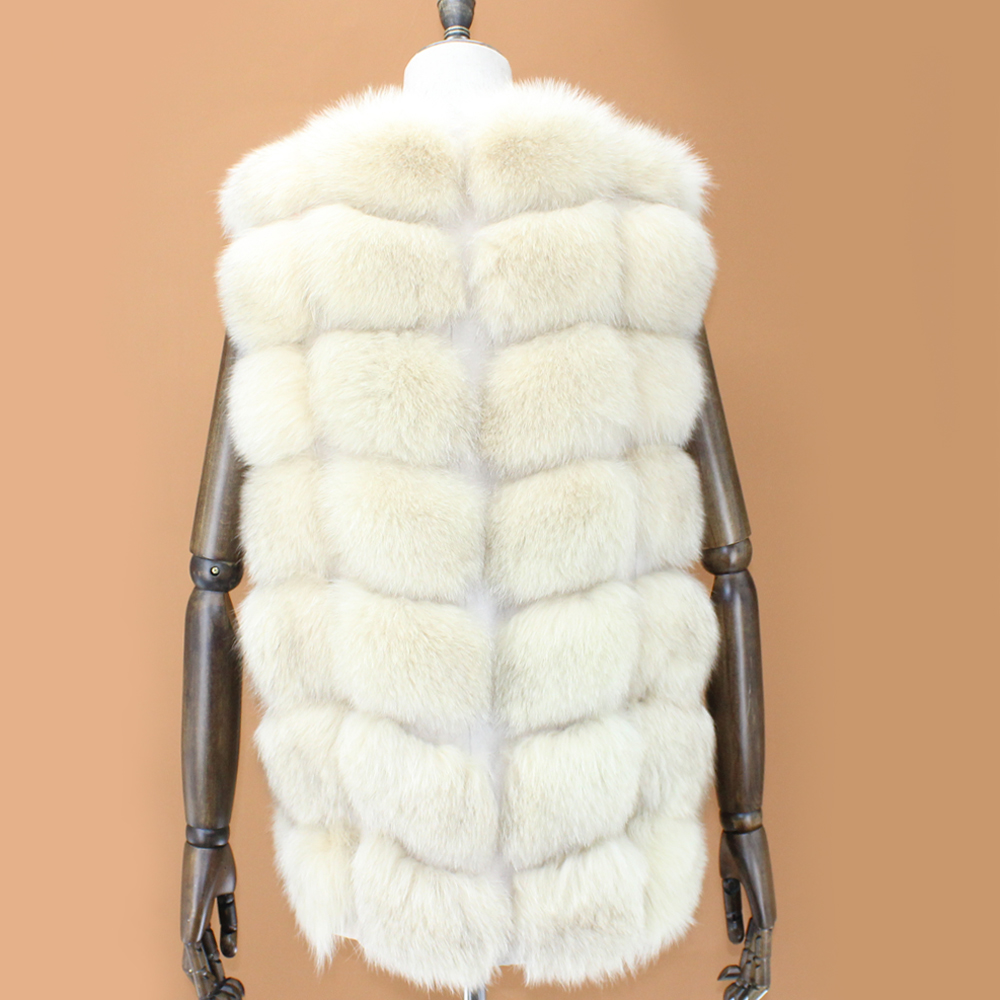 Des Véritable Fourrure Hiver De Élégant Renard Personnalisé Vêtements Mode Dame Nouvelle Femmes Manteau Gilet Color Réel PqwtnTd7