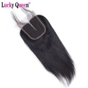 Image 4 - Lucky QueenเปรูตรงRemyมนุษย์ผม4x 4/5X5 HDปิดลูกไม้ด้วยผมเด็กPre pluckedสำหรับผู้หญิงสีดำสวิสลูกไม้