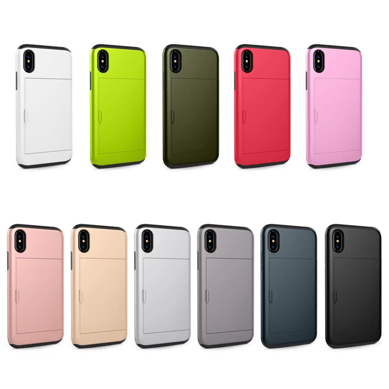 Slide Wallet Case For Iphone X 7 8 6 6s Plus