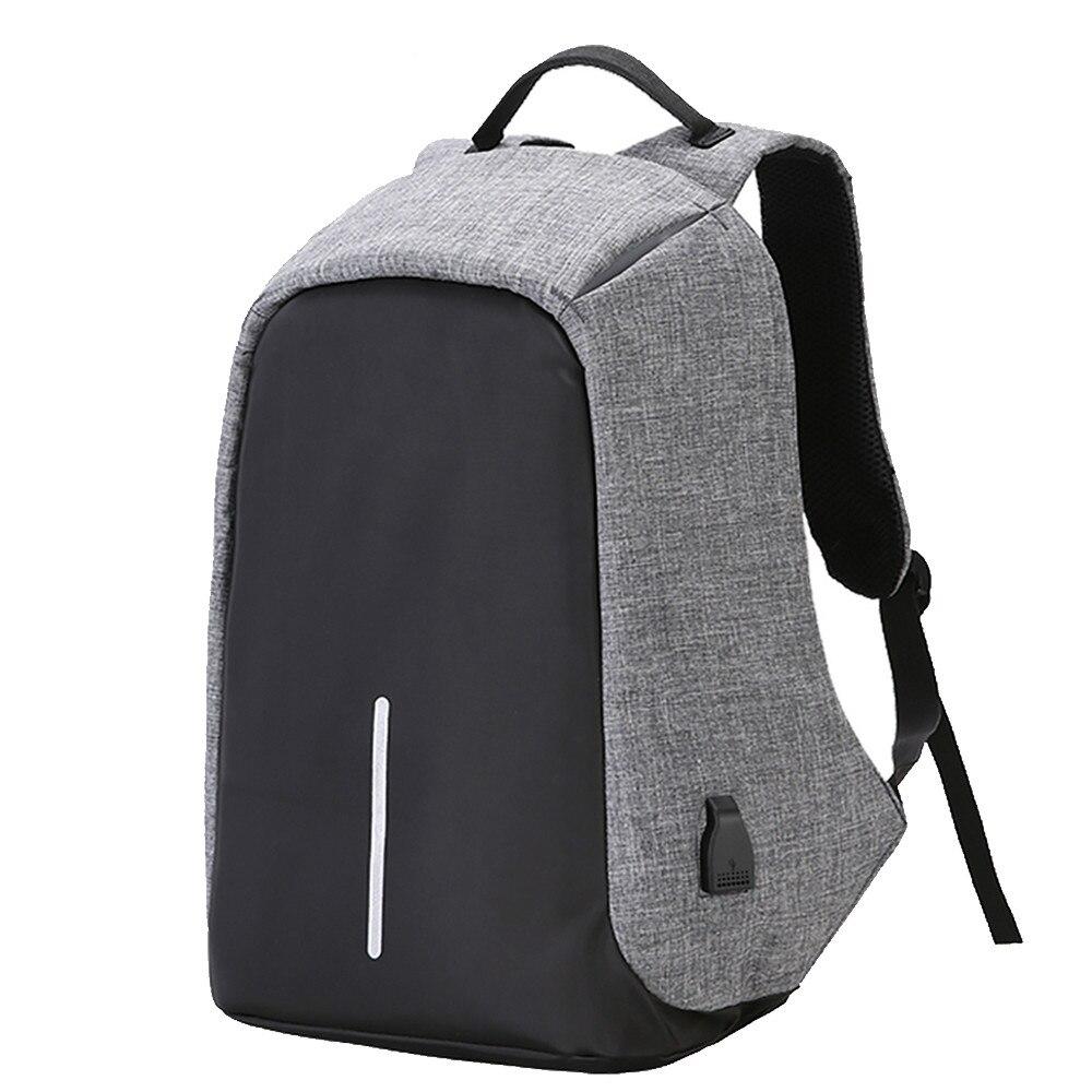 SXME Anti-robo de 15,6 pulgadas del ordenador portátil mochila hombres mujeres mochila externa USB carga ordenador portátil mochila bolsa para Macbook