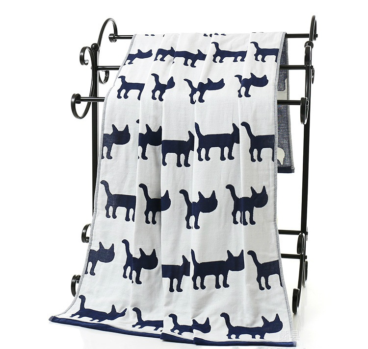 2018 New Arrival Elephant 70*140cm gauze bath towels super soft Cat Deer Cotton beach towel brand Home bathroom essuie de bain