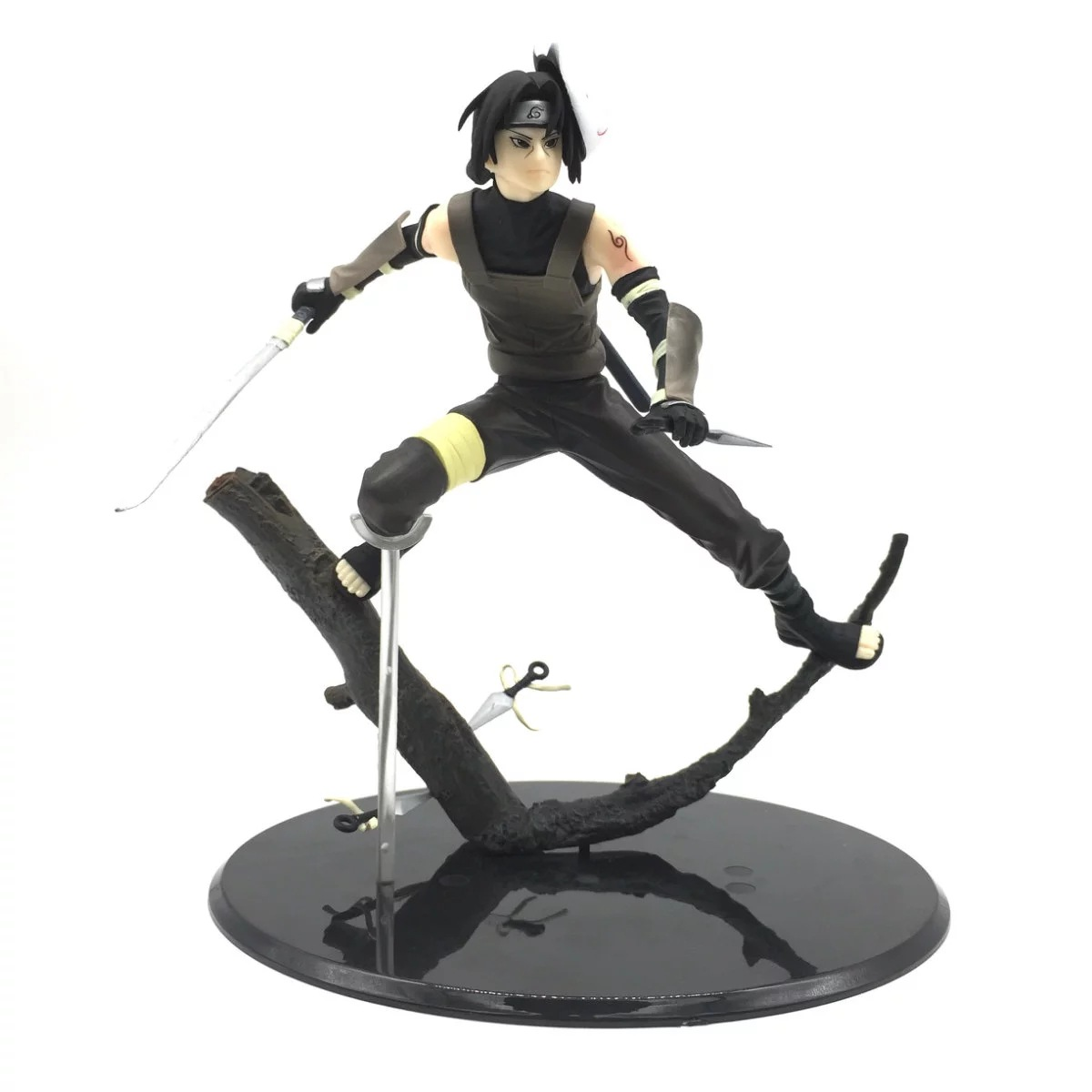 SAINTGI Naruto Shippuden UChiha Itachi Anbu 20cm PVC Action Figure Model Toys Doll in Box Gift For Boy Anime Collection Toy pu short wallet w colorful printing of naruto shippuden uchiha itachi