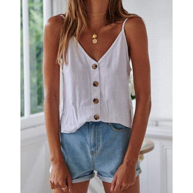 Women'S ButtonUp Sleeveless...