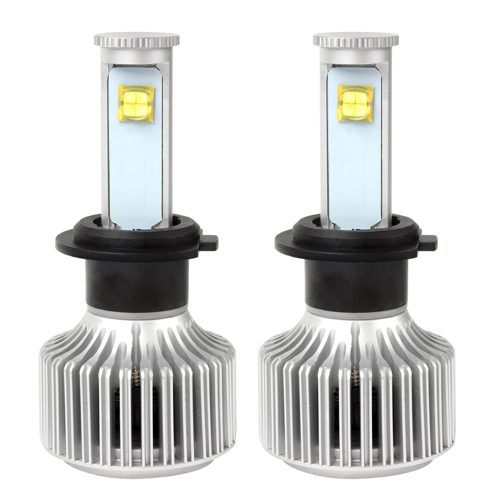 Version of X7 LED Headlamp H7 Easy to Install Car Styling All-in-one Super Bright 40W/Each Bulb Headlight nighteye cob h7 led headlight 70w 9000lm all in one car led headlights bulb headlamp fog light 12v auto replacement parts 6000k