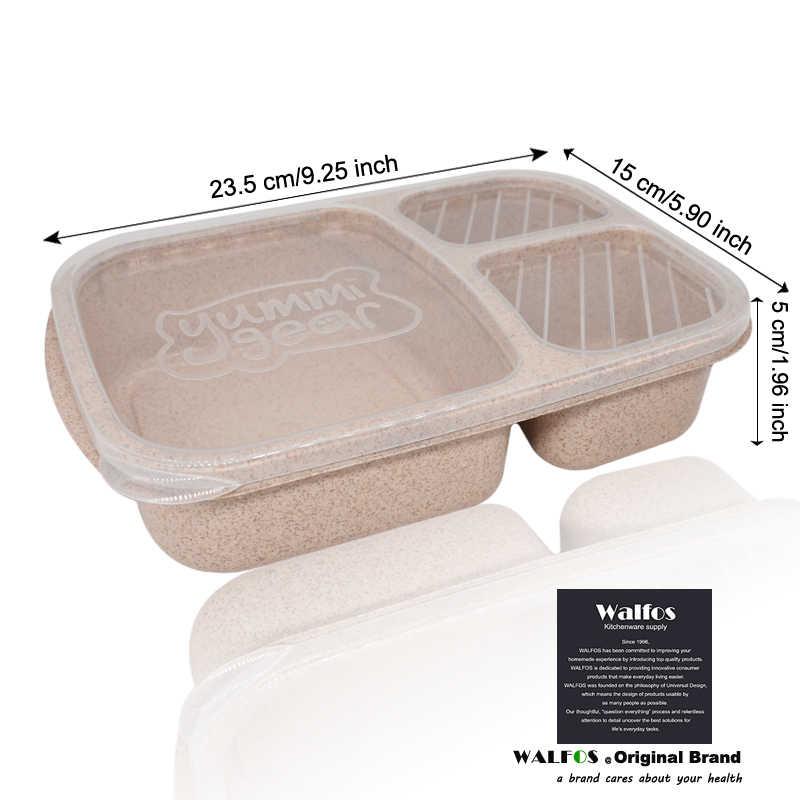 WALFOS Новая мода Пшеница без загрязнения микроволновая печь Bento коробка для пикника еда контейнер для хранения Ланч bax