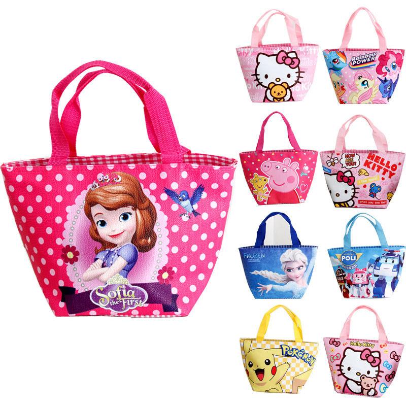 Disney-cartoon-Frozen-children-bag-student-Elsa-waterproof-package-girl-boy-kid-portable-bag-Storage-lunch