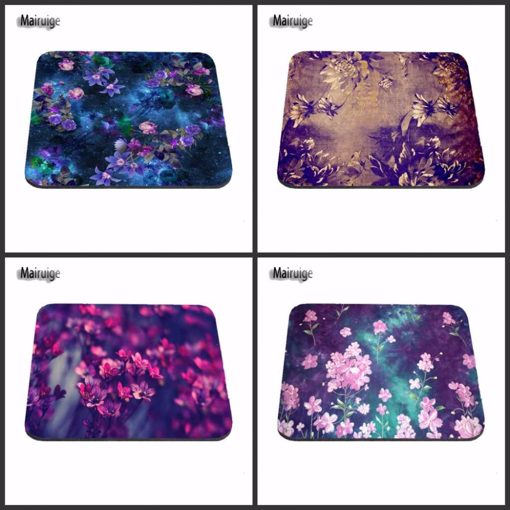 Blue purple Classical Flowers Pattern Gaming Mouse Mat Rubber Pad Customized Support Durable Mat Custome Make Your Own Mat
