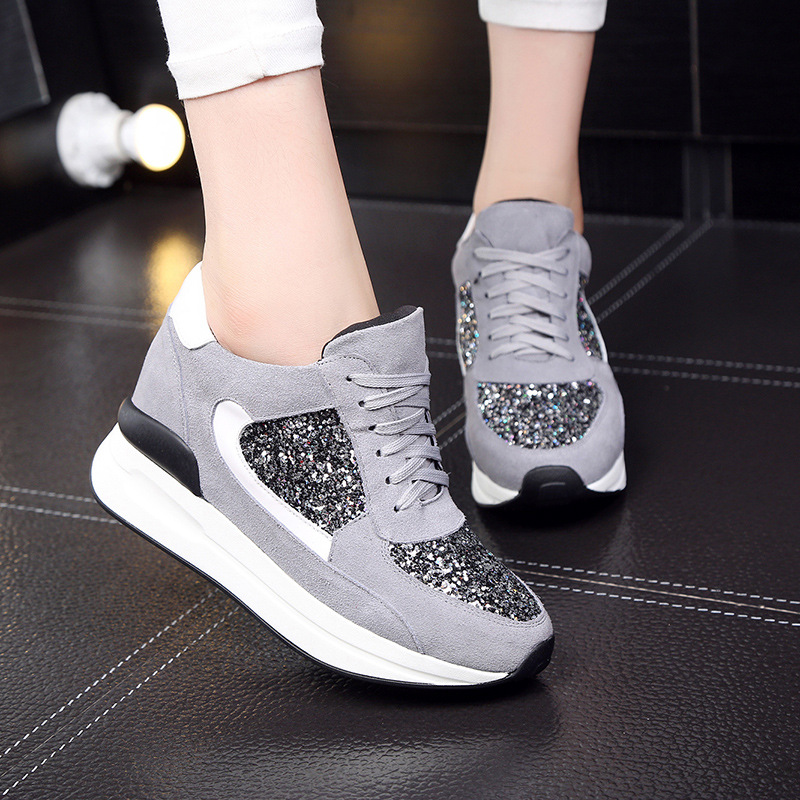 Designer Women Sneakers Wedges Female Summer Flats Casual Creepers Platform Leather Shoes Woman Zapatos Mujer