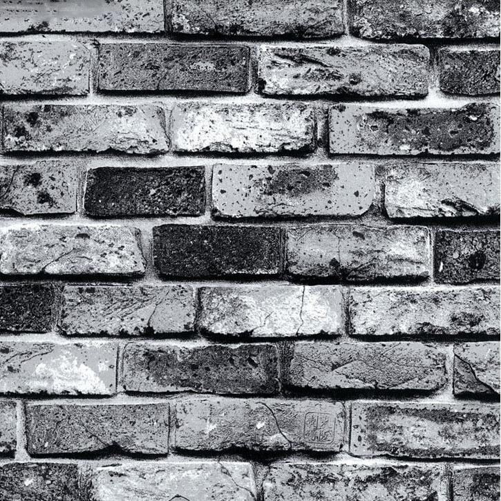 Modern super 3d stone wallpaper for pvc grey brick ...