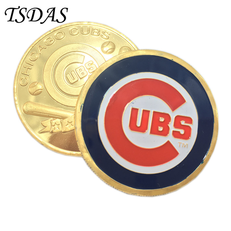 American Football Challenge Coin NFL Chicago Cubs Gold Commemorative Coins For Collection Free Shipping