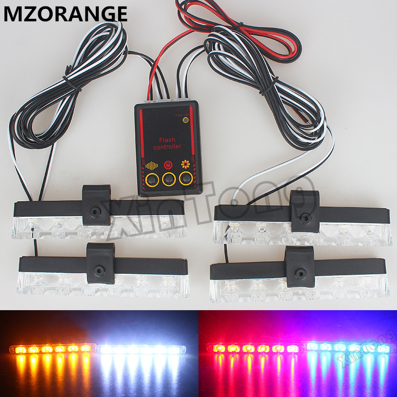 1 Set 4x6/Led Ambulance Police light 12V Car Light Flashing Firemen Lights DC Strobe Warning light Car-Styling Best Quality цена и фото