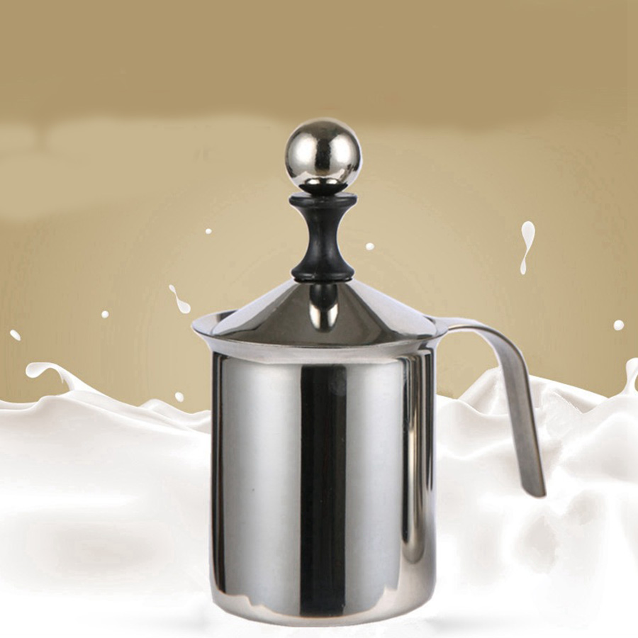 Mini Coffee Maker Stainless Steel Double Mesh Milk Frother Milk Espresso Filter Milk Coffee machine 400 ml 800 ml Kitchen Tool new arrival pp brown coffee m achine stainless steel mesh conical solid liquid separation filter