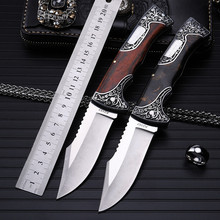 Outdoor fruit knife folding knife self-defense wilderness survival high hardness saber wild small sharp knife knife tough guy