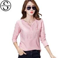 Camisas Femininas 2017 New Fashion Linen Shirt Cotton Blouses Ladies Office Shirts Chemise Femme Plus Size
