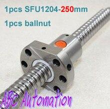 Envío Libre Anti backlash ballscrew SFU1204 1 unids 1204-250mm + 1 unids ballnut para CNC máquina de Ruta
