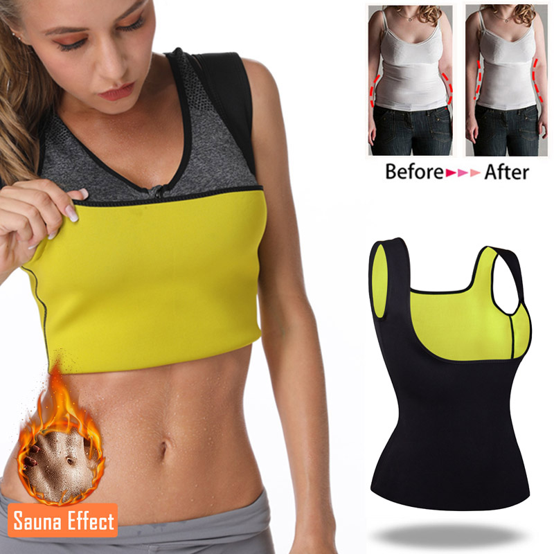Miss Moly Thermo Top Neoprene Body Shaper Woman Cincher Sweat Waist Trainer Sauna Shapewear Push Up Vest  Slimming Corset