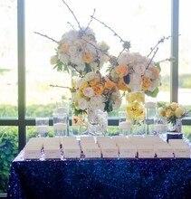 Pailletten Rechteck Hochzeit 120x200