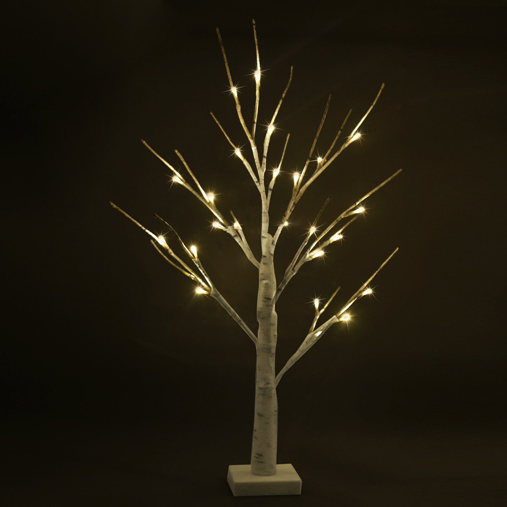 LED decoracion table lamps Christmas Party Home Holiday Birthday Gift Height Silver LED Modern Indoor tree light D20 in LED Night Lights from Lights Lighting