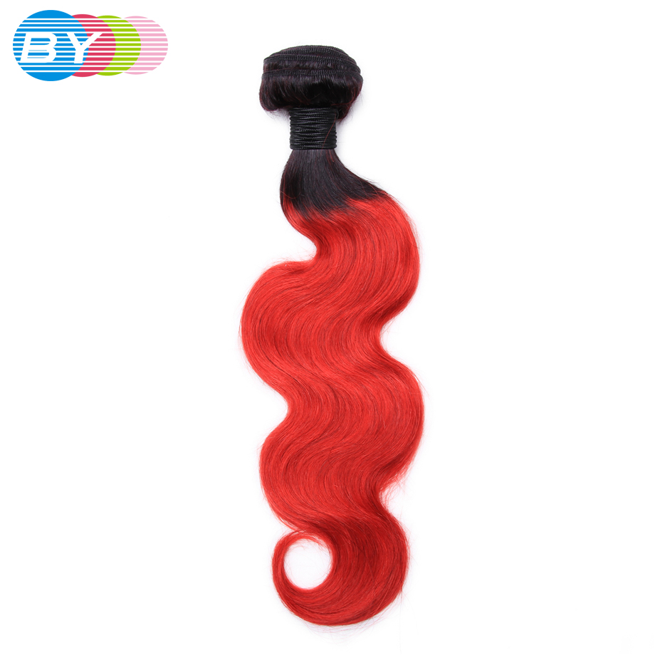 Human Hair Weaves Shock-Resistant And Antimagnetic Modest By Pre-colored Non-remy Hair Brazilian Human Weave Body Wave T1b/red Color Bundles One Piece Free Shipping Waterproof