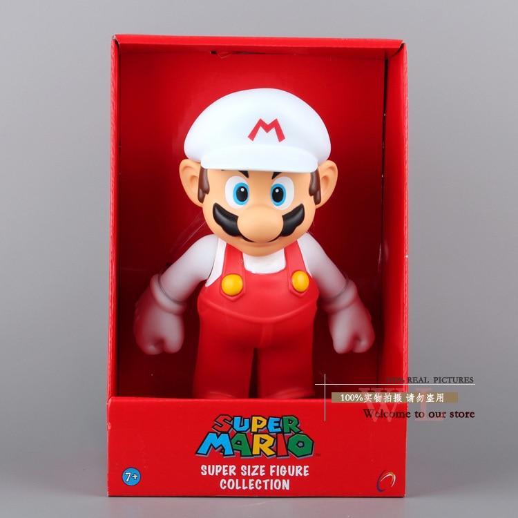 Super Mario Bros Mario con il Cappello Bianco PVC Action Figure Collection  Toy Doll 10