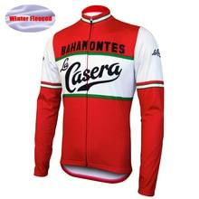 NEW Mens La Casera/Bahamontes Long Sleeve Cycling Jersey Fleece Clothing Wear Breathable Clothes