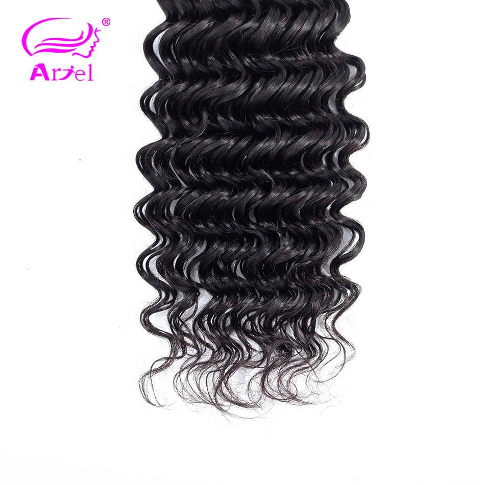 Пучки глубоких волн 34, 32, 30, 40 дюймов пучки индийских волос плетение пучки 100% человеческих волос пучки Remy человеческих волос для наращивания Ариэль
