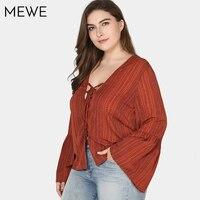 Plus Size Shirts Women Summer Chiffon Blouse 2018 5xl Korea Fashion Bondage Print Long Sleeve Shirt