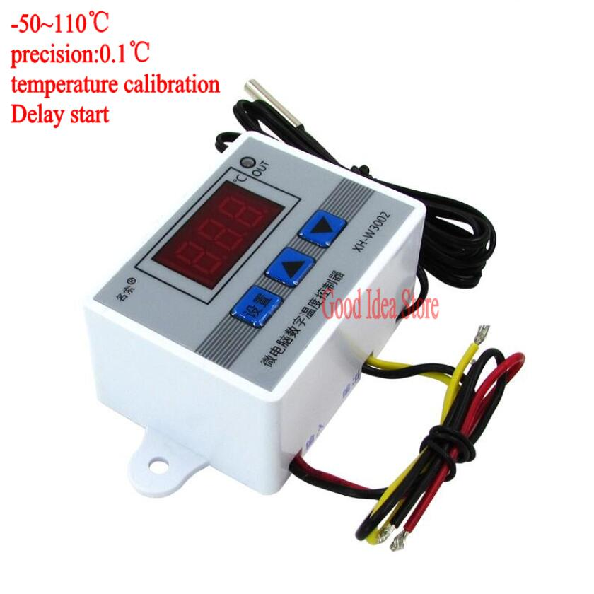 220V 12V 24V Digital LED Temperature Controller 10A Thermostat Control Switch Probe with waterproof sensor Клейкая лента