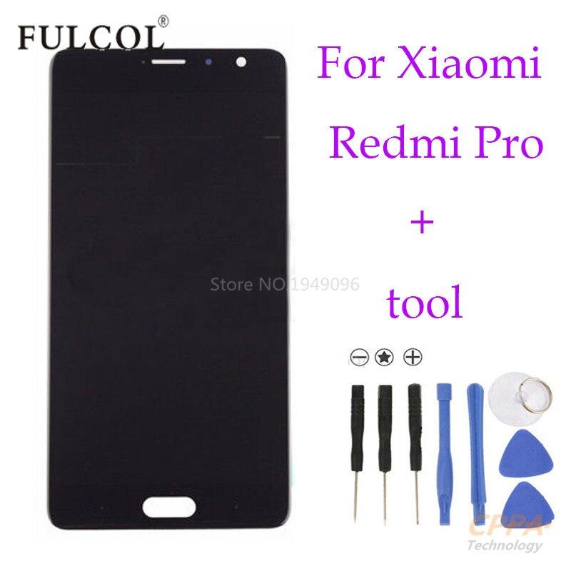 De alta calidad para xiaomi redmi pro pantalla lcd + pantalla táctil de cristal