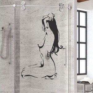 Nude Bathroom Wall Glass Decal