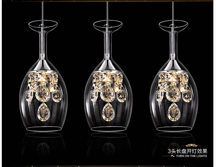 Free Shipping LED Crystal Pendant Lamp 3L Light AC90 V-240V Dining Room Modern Brief Contemporary Restaurant Pendant Light free shipping modern dining table designs discount lamp shades