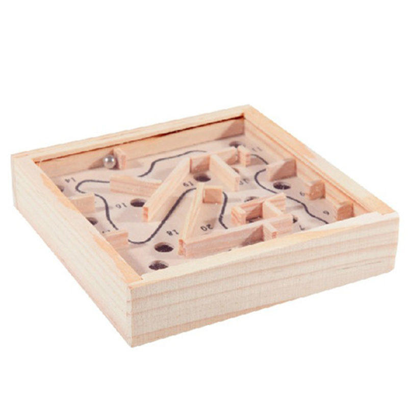 Mini Wooden Labyrinth Board Game Ball In Maze Puzzle Handcrafted Toys 11.5*2.5cm Children Educational Toys antistress Toy
