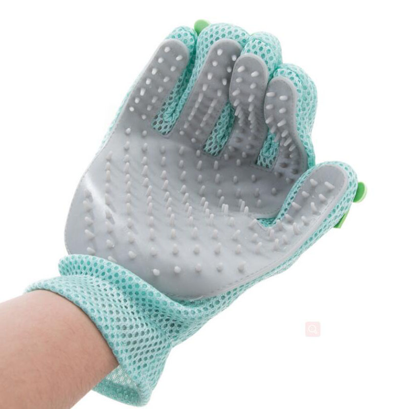 HIPET Silicone Cat Glove Brush Hair Removal Deshedding Animal Bathing Cleaning Massage Pet Grooming Tool Accessories in Grooming Glove from Home Garden