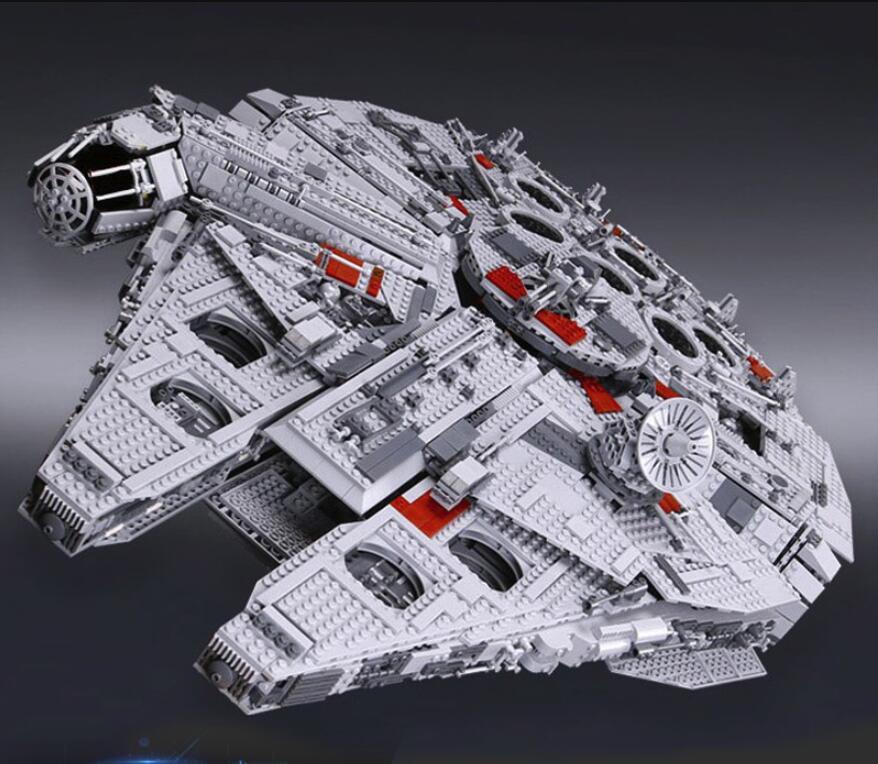 DHL05033 WARS 5265 piezas Star Ultimate 10179 colección de juguetes de Millennium Falcon modelo de construcción de bloques de ladrillos para niños