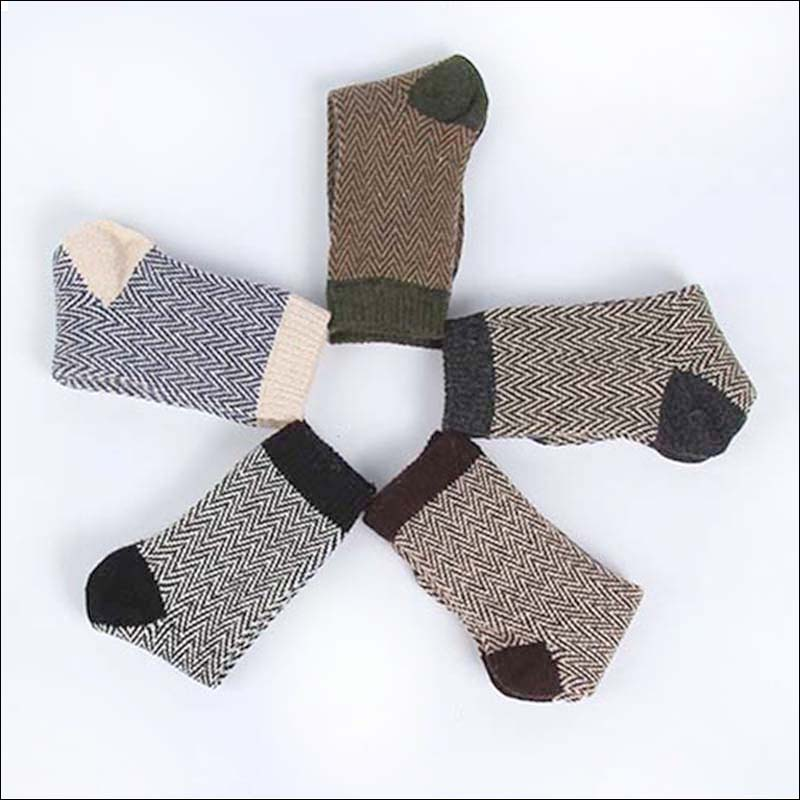 Nuevos calcetines térmicos de invierno de cachemira para hombre, calcetines de lana de conejo cálidos, calcetines para hombre, 5 pares / lote, envío gratis