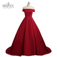 2018 New Long Red Prom Dresses Robe de Soiree Sexy Backless Strapless Sweep Train Satin Evening Dress Formal Party Gown