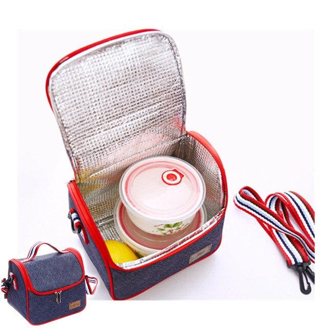 Oxfrod Плечо Тепловой Обед Мешок Lancheira Сумка-Холодильник Для Женщин Малыш Пикник Bento Box Изолированный Пакет Досуг Аксессуары