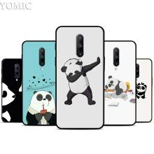 panda Silicone Case for Oneplus 7 7Pro 5T 6 6T Black Soft Case for Oneplus 7 7 Pro TPU Phone Cover
