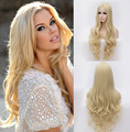 wholesale Premium blonde wig long natural body wave wigs Brazilian Hair synthetic wig heat resistant