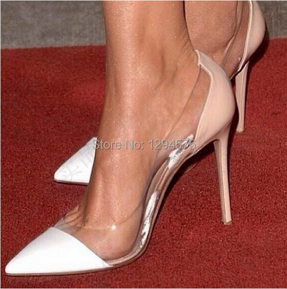 c387ed52602 2014 new arrival gianvito rossi White and nude sheepskin patent leather high  heels women shoes