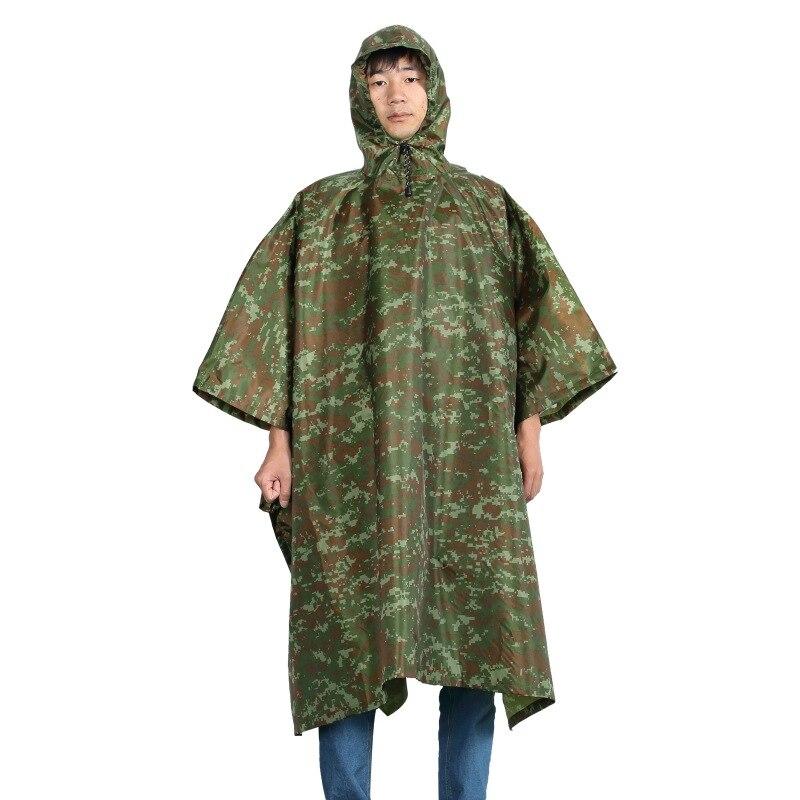 Tactical Outdoor Hunting Rain Coat Waterproof Raincoat Women Men Cloak Durable Fishing Poncho Camping Tour Rain Gear