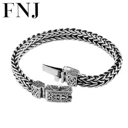 100% 925 Silver Bracelet Anchor Width 8mm Classic Wire-cable Link Chain S925 Thai Silver Bracelets for Women Men Jewelry