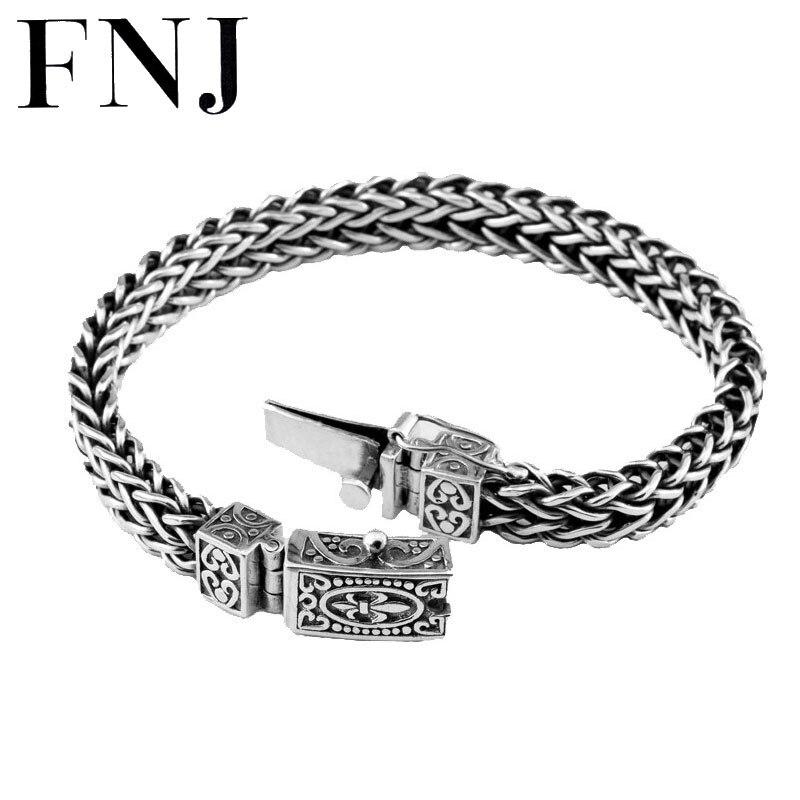 100% 925 Argent Bracelet Ancre Largeur 8mm Fil Classique-Chaîne à Maillons de câble S925 Thai Argent Bracelets pour Les Femmes hommes Bijoux