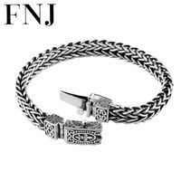 100% 925 Silver Bracelet Anchor Width 8mm Classic Wire cable Link Chain S925 Thai Silver Bracelets for Women Men Jewelry
