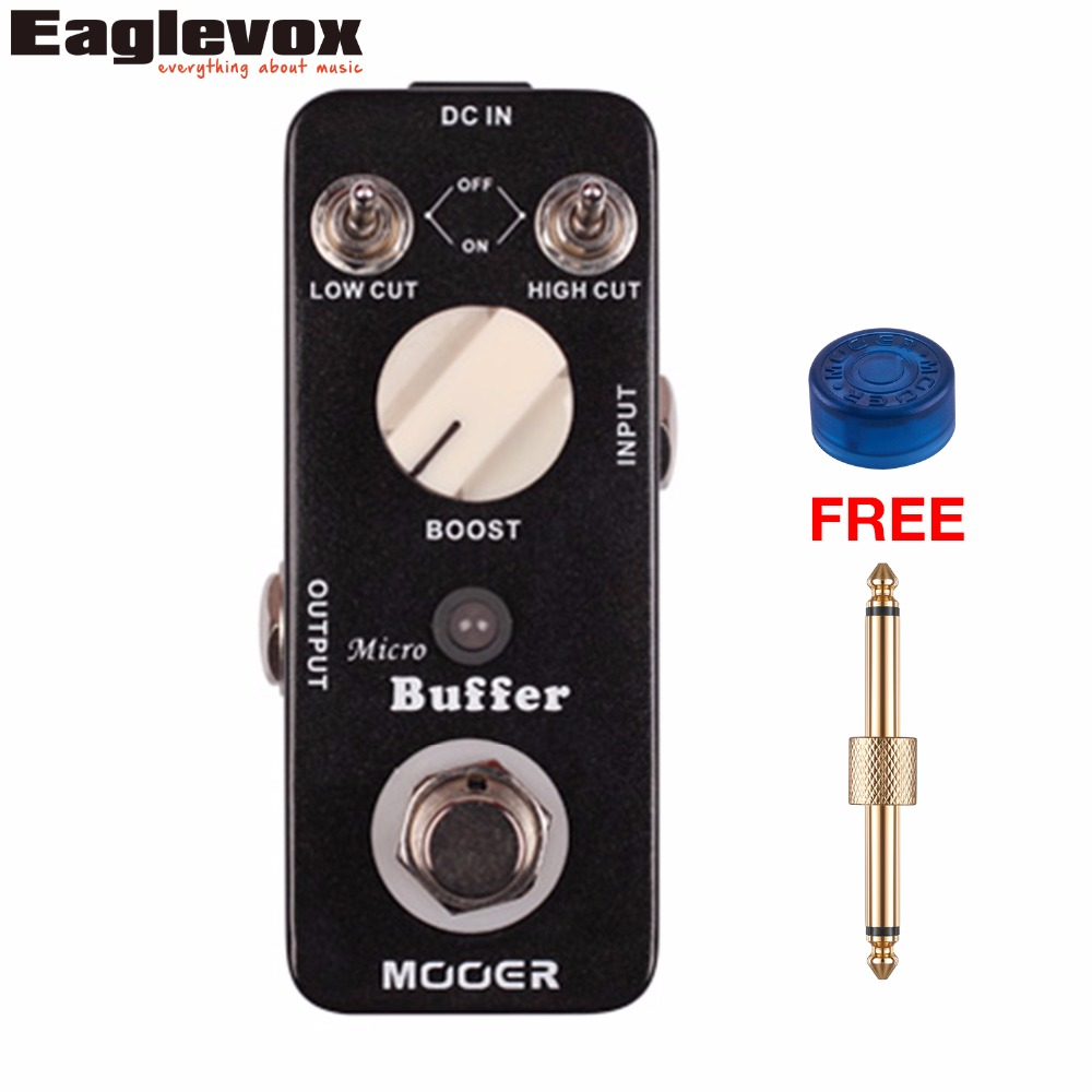 Mooer Micro Buffer Guitar Effect Pedal High Cut Low Cut Switch Boost Knob Ture Bypass with Free Connector and Footswitch Topper mooer blade boost guitar effect pedal electric guitar effects true bypass with free connector and footswitch topper