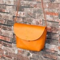 Japan and Korean Style Genuine Vegetable Tanned Leather Women Hobos Crossbody Bag Lady Messenger Bag Female Mini Shoulder Bag