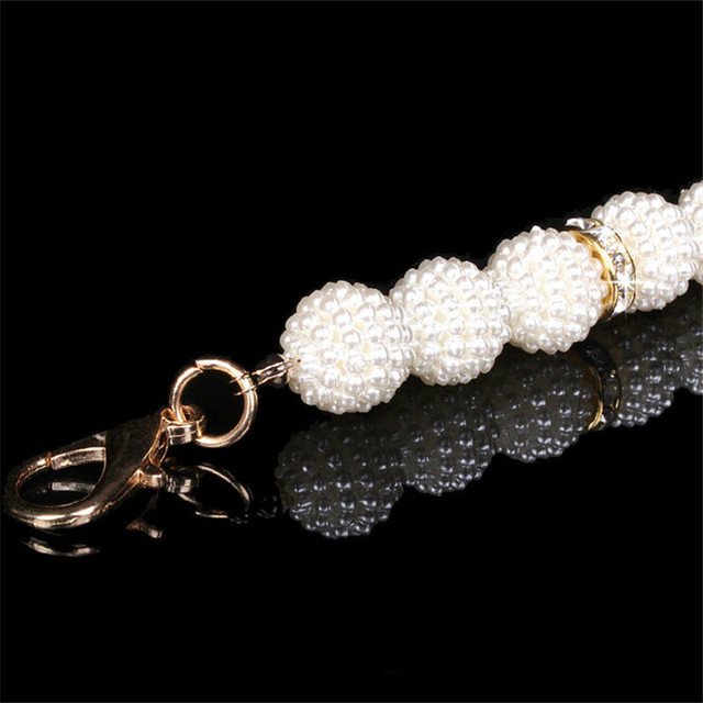 lady New simple fashion Rhinestone wild casual plastic pearl belt Attractive fine  DW172